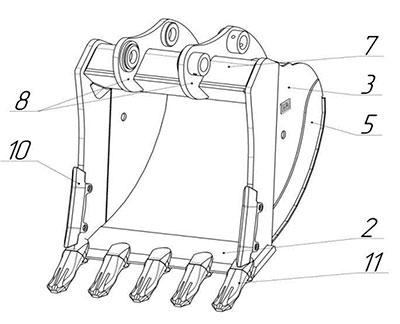 Ковш усиленный HD-21.11-J35