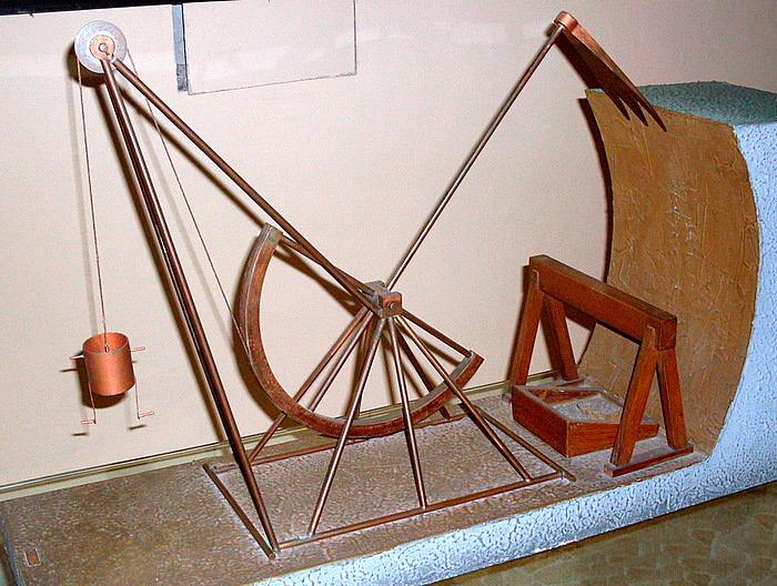 Модель экскаватора Леонардо да Винчи