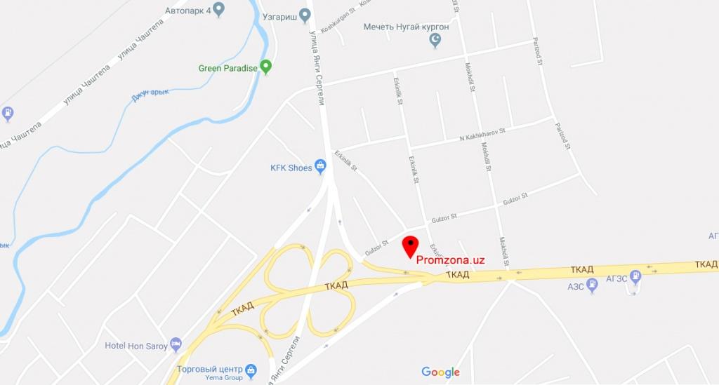 Promzona.uz на карте Google